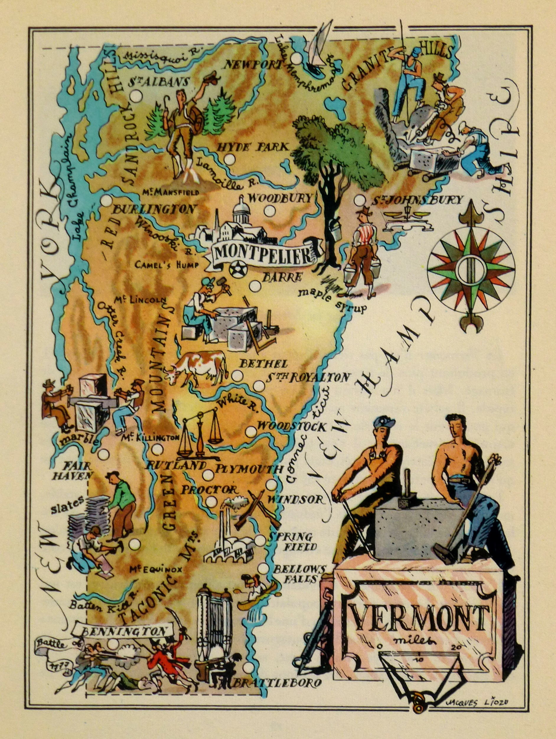 Vermont Pictorial Map, 1946-main-6232K