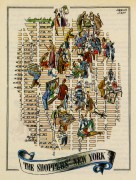 Shoppers of New York City Pictorial Map, 1946-main-6235K