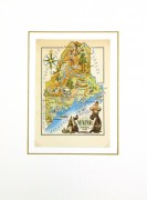 Maine Pictorial Map, 1946-matted-6237K
