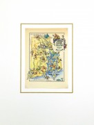 Rhode Island Pictorial Map, 1946-matted-6238K