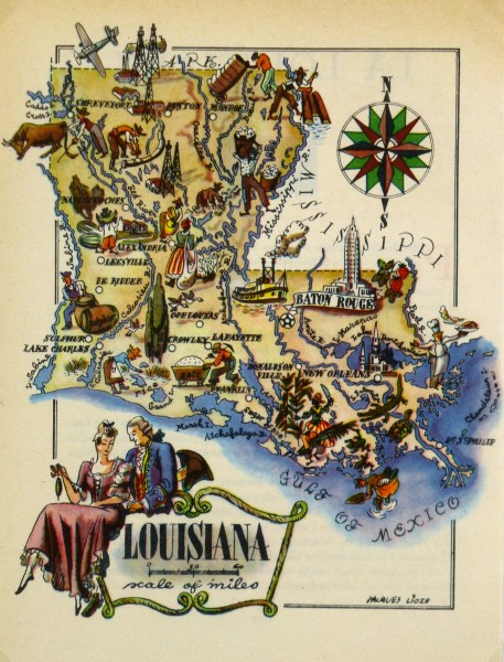 Louisiana Pictorial Map, 1946-main-6239K