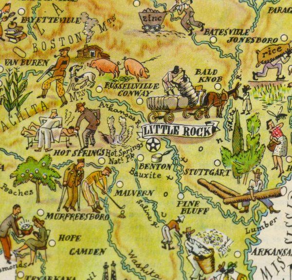 Pictorial Map - Arkansas, 1946-detail-6240K