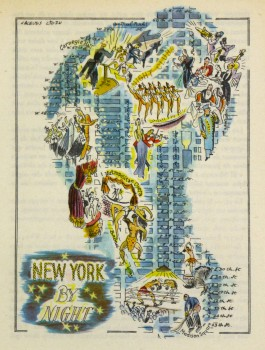 New York at Night Pictorial Map, 1946-main-6242K