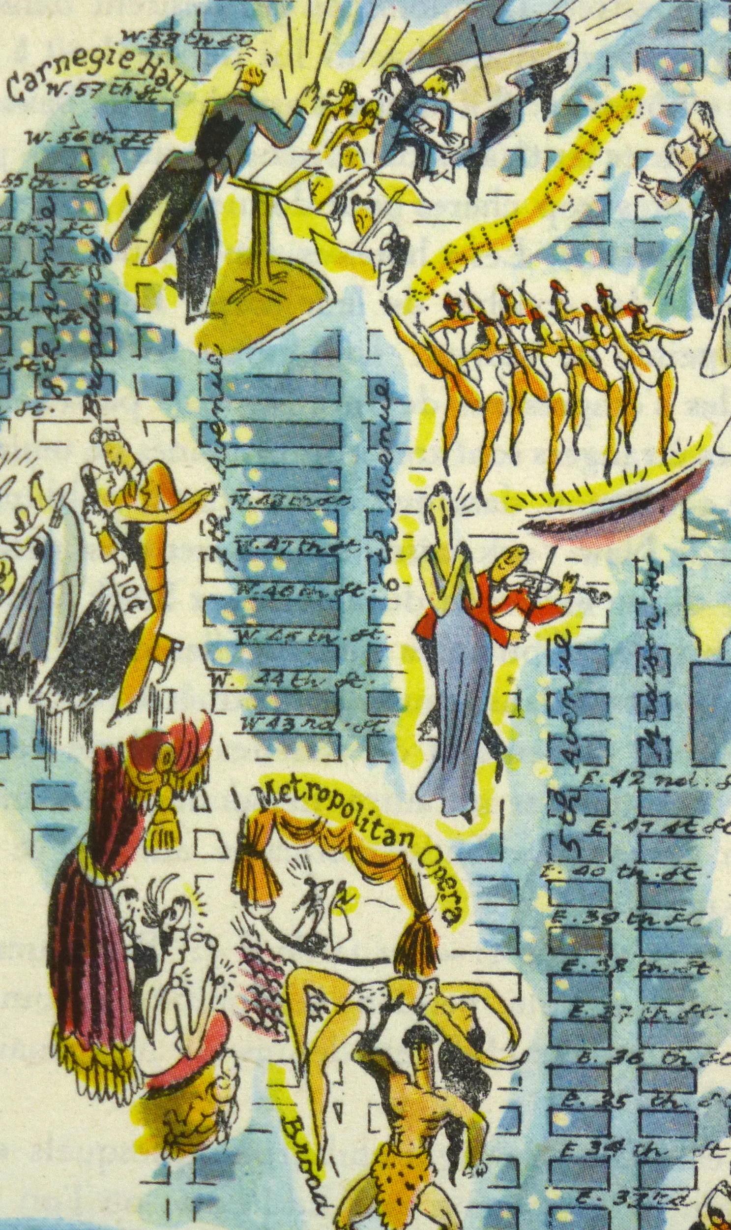 New York at Night Pictorial Map, 1946-detail-6242K