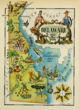 Pictorial Map - Delaware, 1946-main-6243K