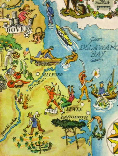 Pictorial Map - Delaware, 1946-detail-6243K