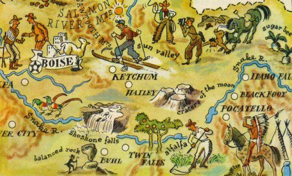 Pictorial Map - Idaho, 1946-detail-6244K