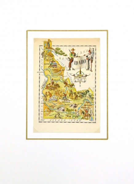 Pictorial Map - Idaho, 1946-matted-6244K