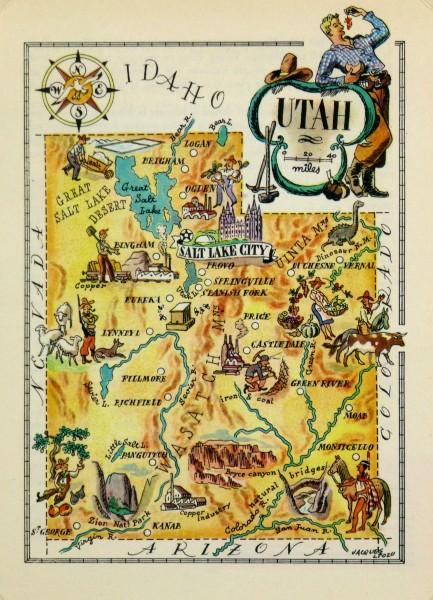 Utah Pictorial Map, 1946-main-6245K