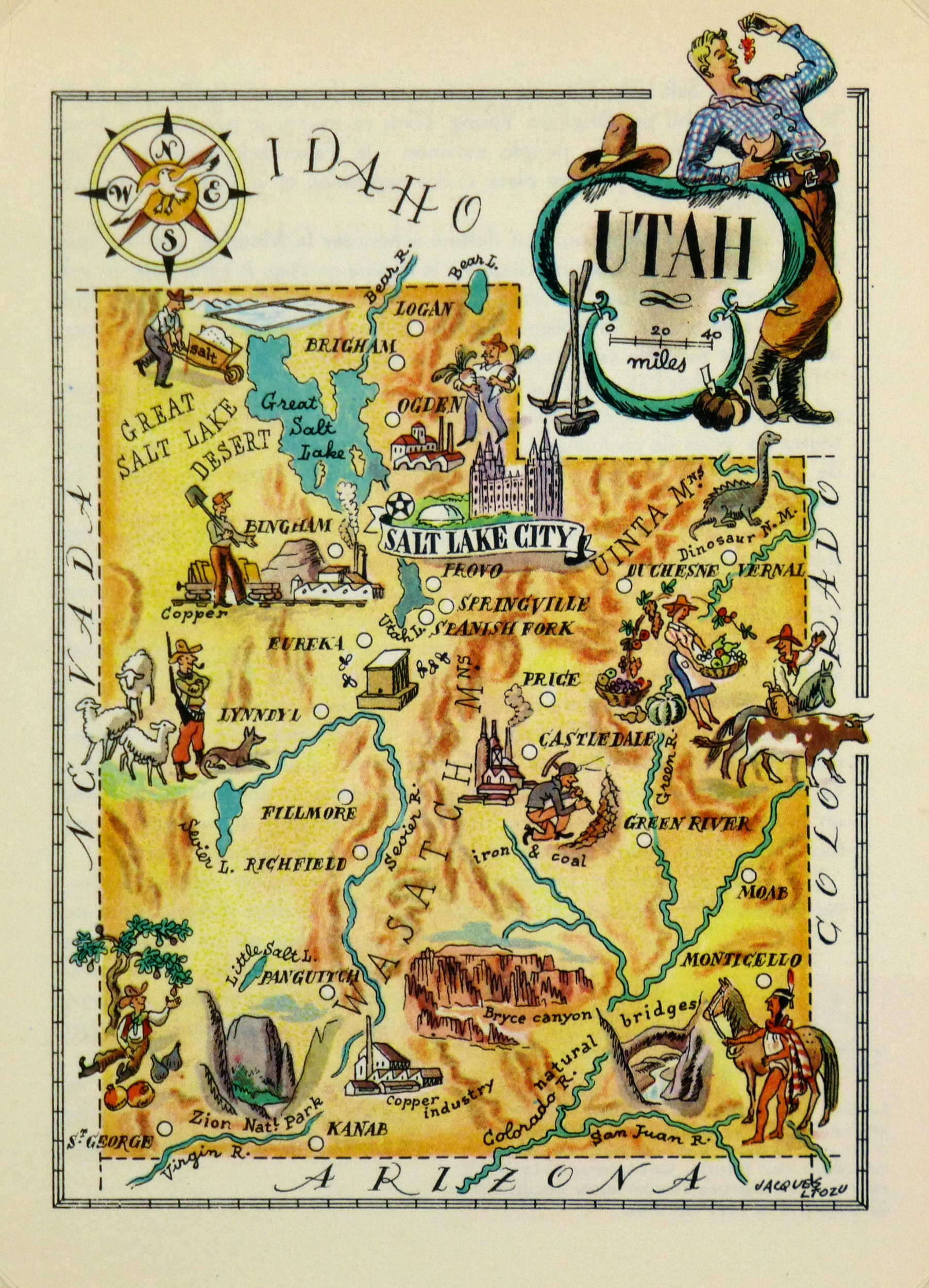 Utah Pictorial Map, 1946-main-6245K
