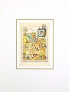 Utah Pictorial Map, 1946-matted-6245K