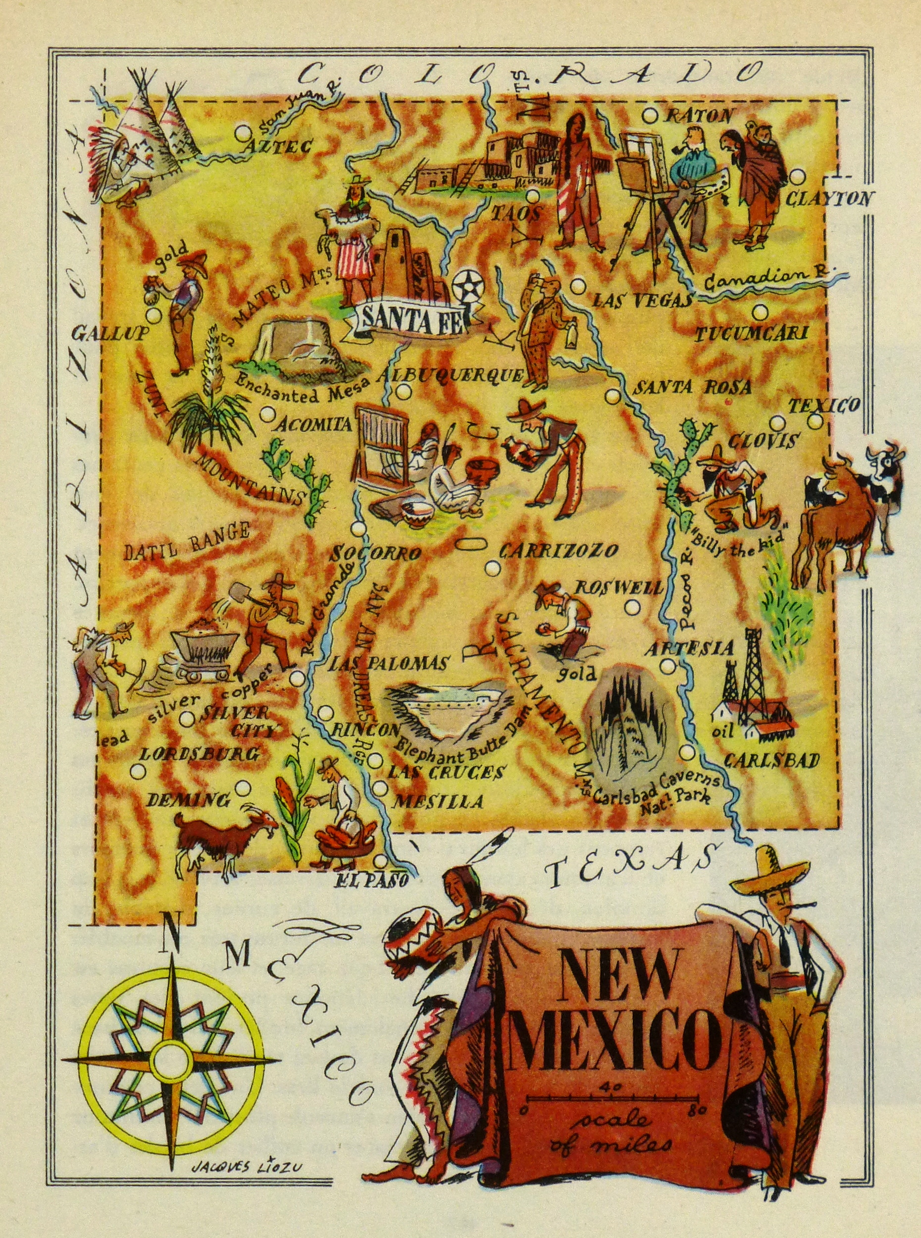 New Mexico Pictorial Map, 1946