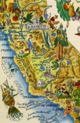 Pictorial Map - California, 1946-detail-6249K
