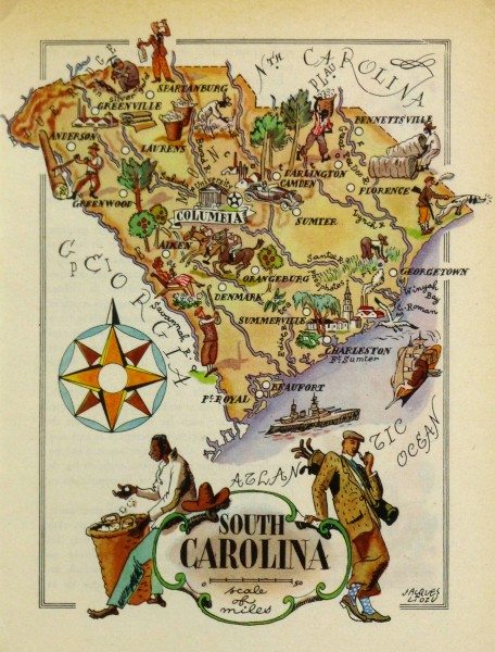 South Carolina Pictorial Map, 1946-main-6250K
