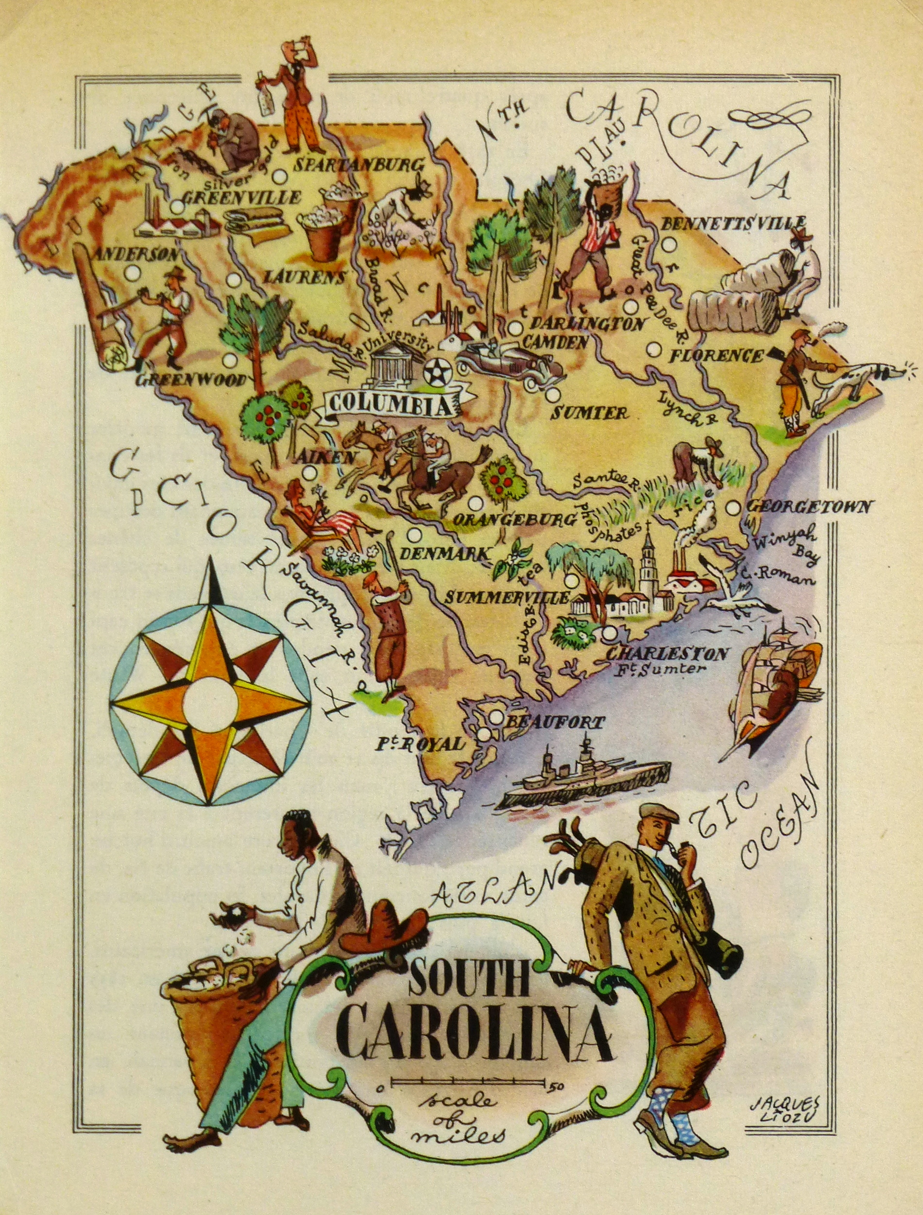 South Carolina Pictorial Map, 1946
