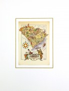 South Carolina Pictorial Map, 1946-matted-6250K