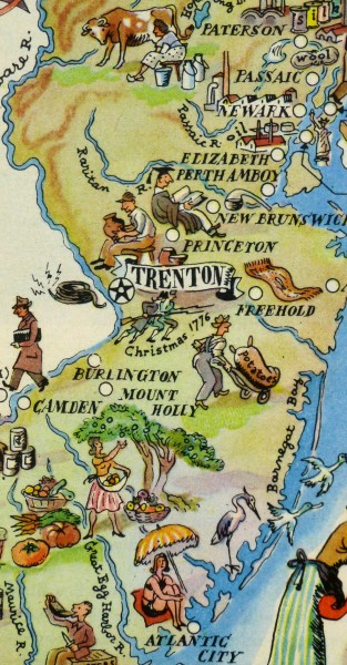 New Jersey Pictorial Map, 1946-detail-6251K