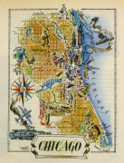 Pictorial Map - Chicago, 1946-main-6252K