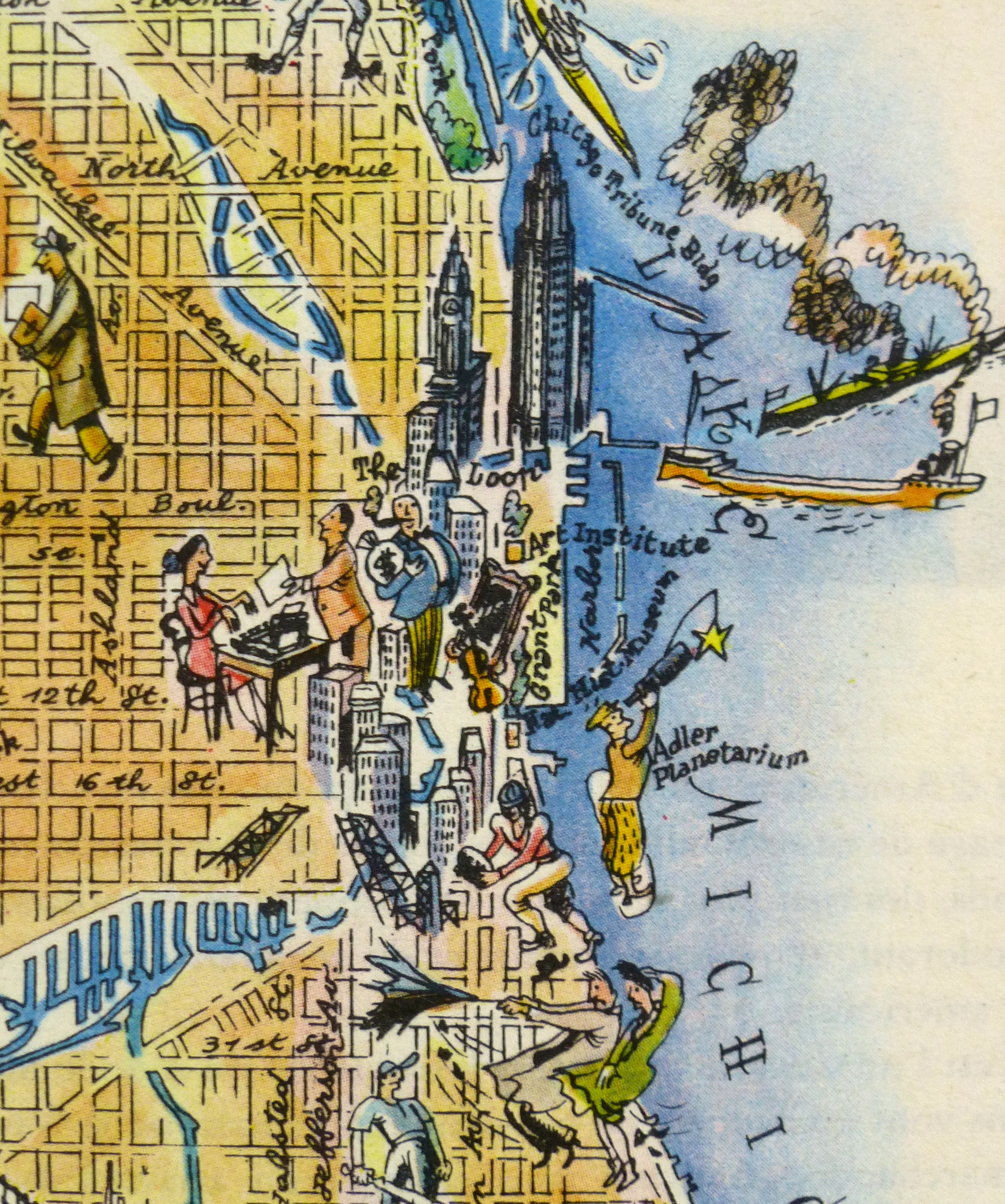 Pictorial Map - Chicago, 1946-detail-6252K