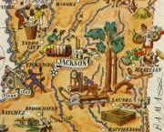 Mississippi Pictorial Map, 1946-detail-6253K