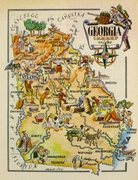 Pictorial Map - Georgia, 1946-main-6254K