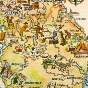 Pictorial Map - Georgia, 1946-detail-6254K