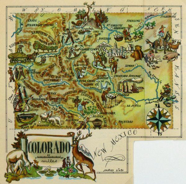 Pictorial Map - Colorado, 1946-main-6257K