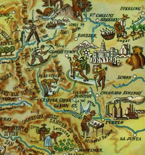 Pictorial Map - Colorado, 1946-detail-6257K