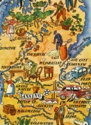Michigan Pictorial Map, 1946-detail-6258K