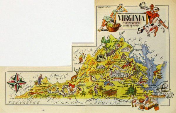 Virginia Pictorial Map, 1946-main-6259K