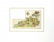 Kentucky Pictorial Map, 1946-matted-6262K
