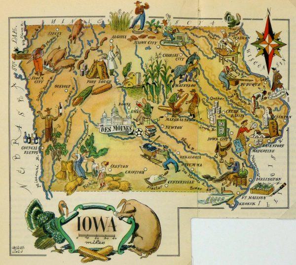 Pictorial Map - Iowa, 1946-main-6263K
