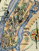 New York City Pictorial Map, 1946-detail-6265K