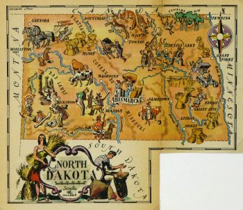 North Dakota Pictorial Map, 1946-main-6267K