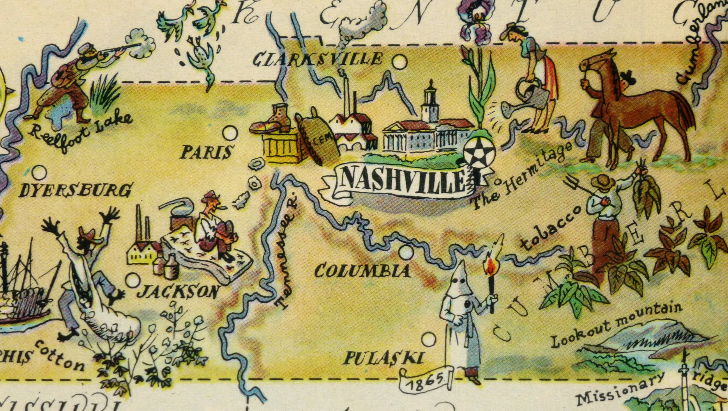 Tennessee Pictorial Map - Map of tennesee