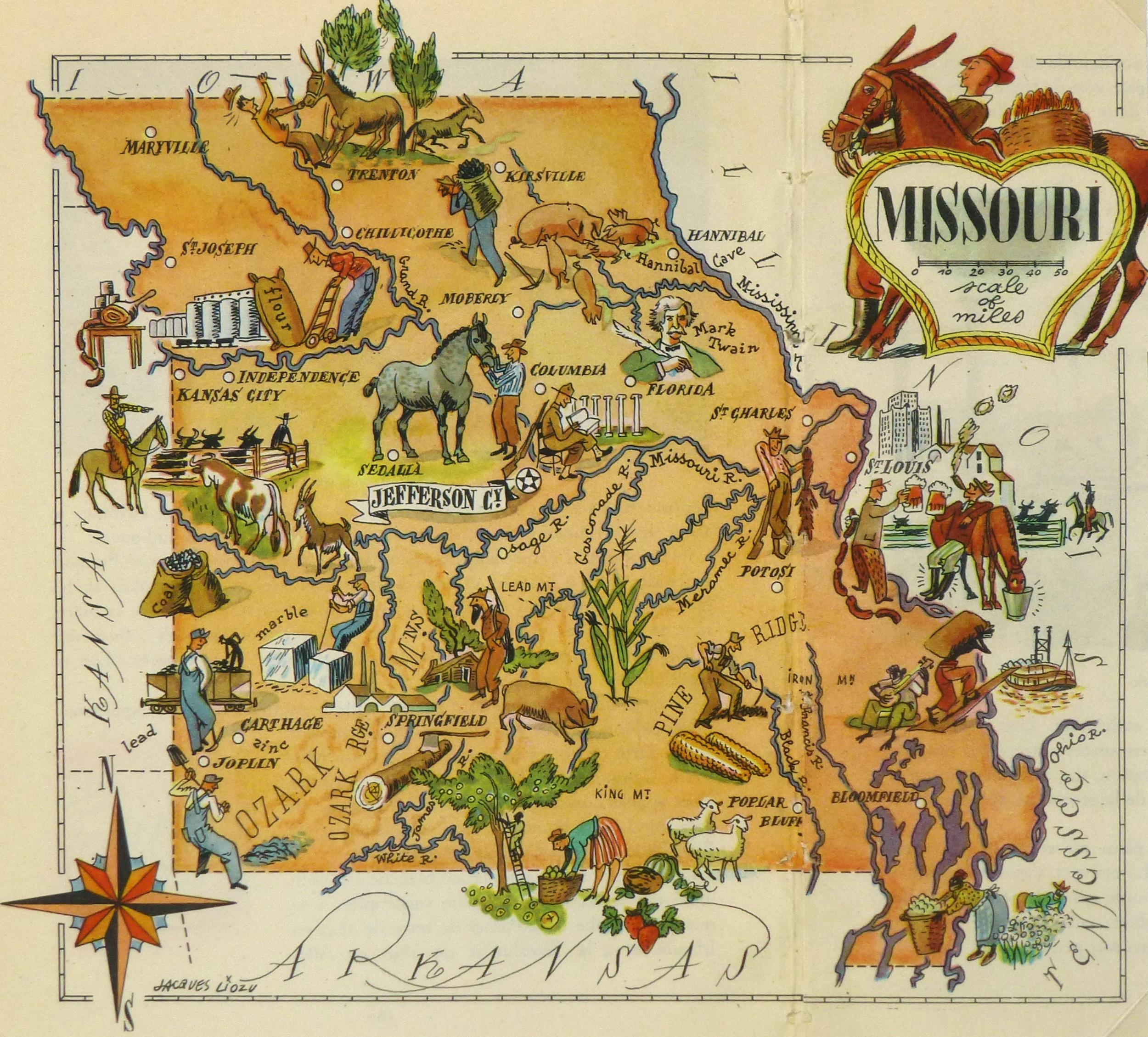 Missouri Pictorial Map, 1946-main-6270K