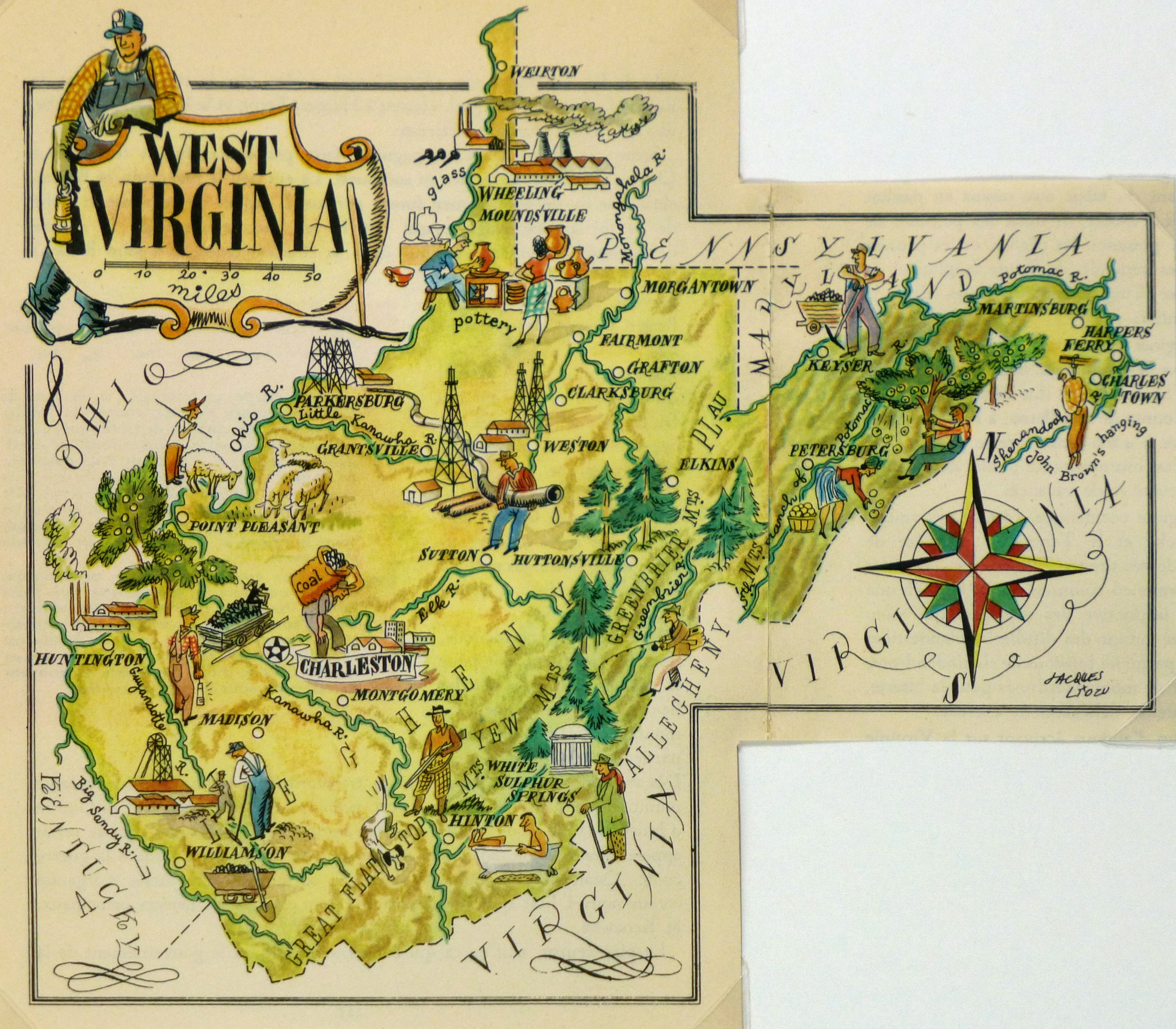 West Virginia Pictorial Map, 1946-main-6273K