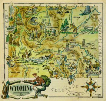 Wyoming Pictorial Map, 1946-main-6274K