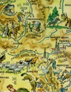 Wyoming Pictorial Map, 1946-detail-6274K