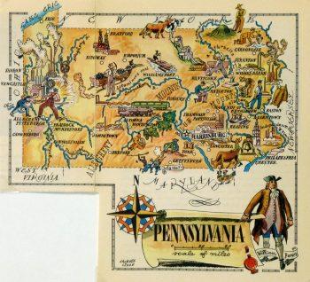 Pennsylvania Pictorial Map, 1946-main-6275K