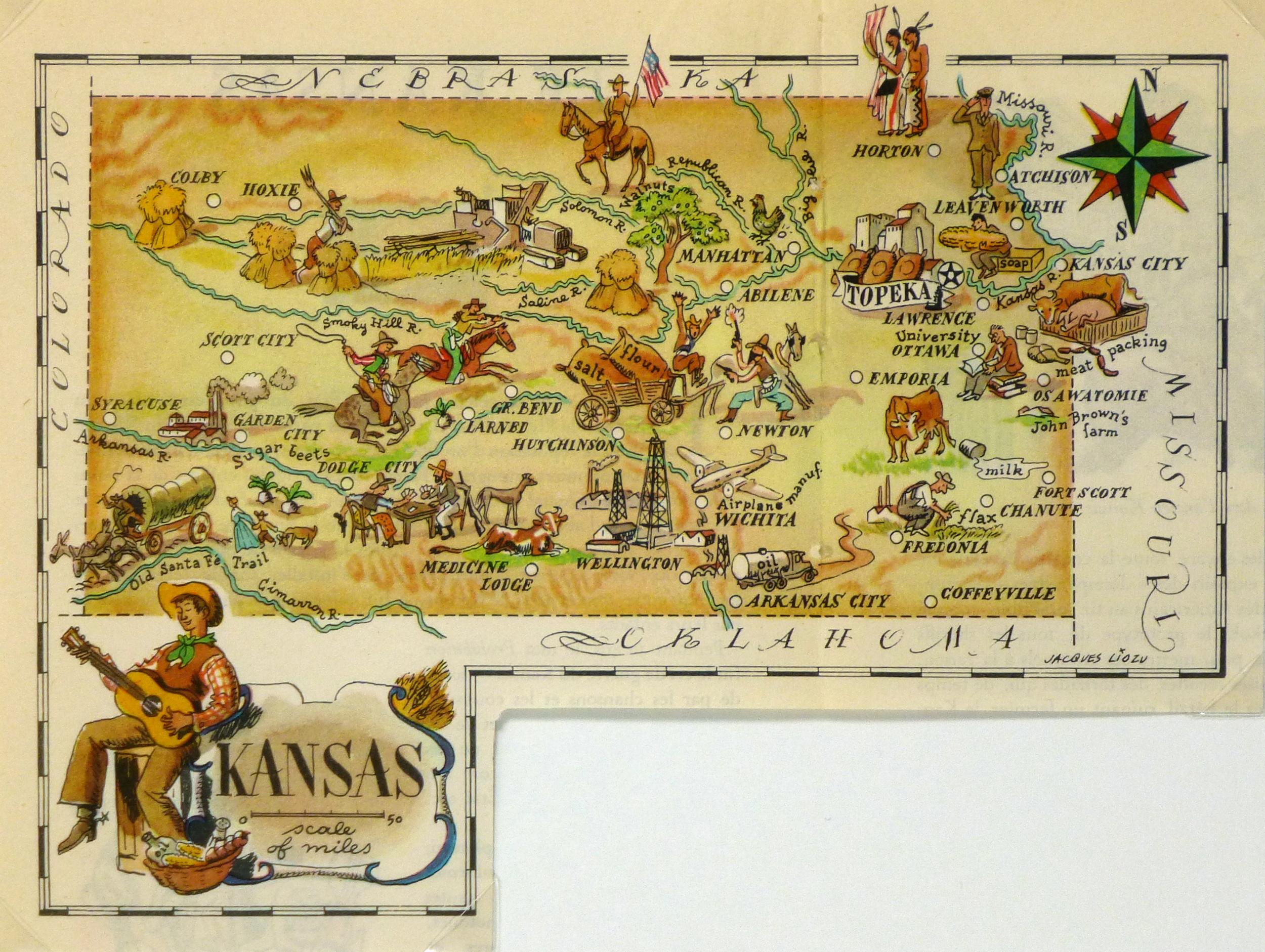 Pictorial Map - Kansas, 1946-main-6276K