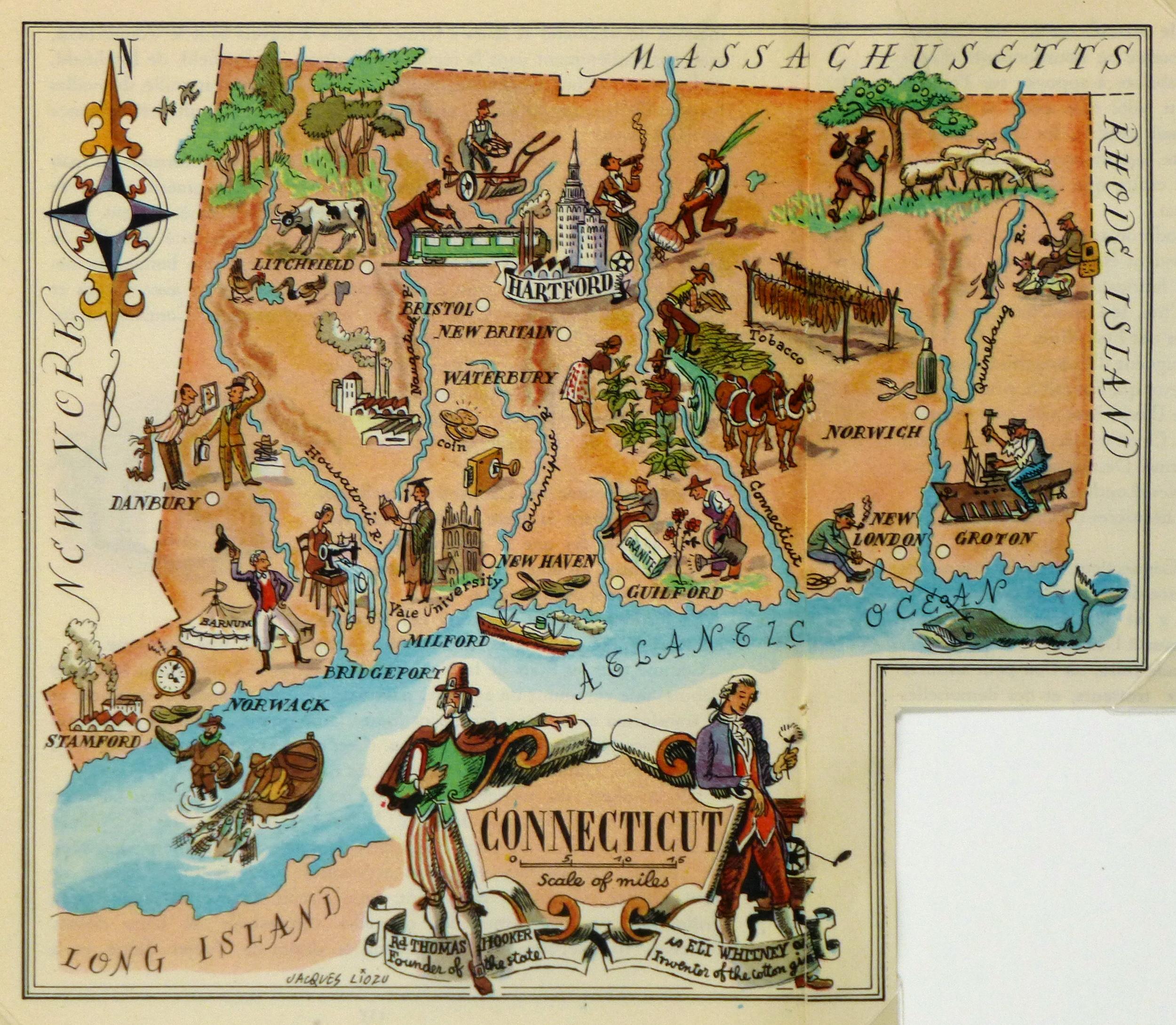 Pictorial Map - Connecticut, 1946-main-6277K