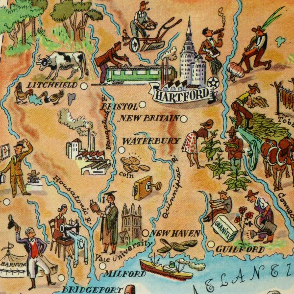 Pictorial Map - Connecticut, 1946-detail-6277K