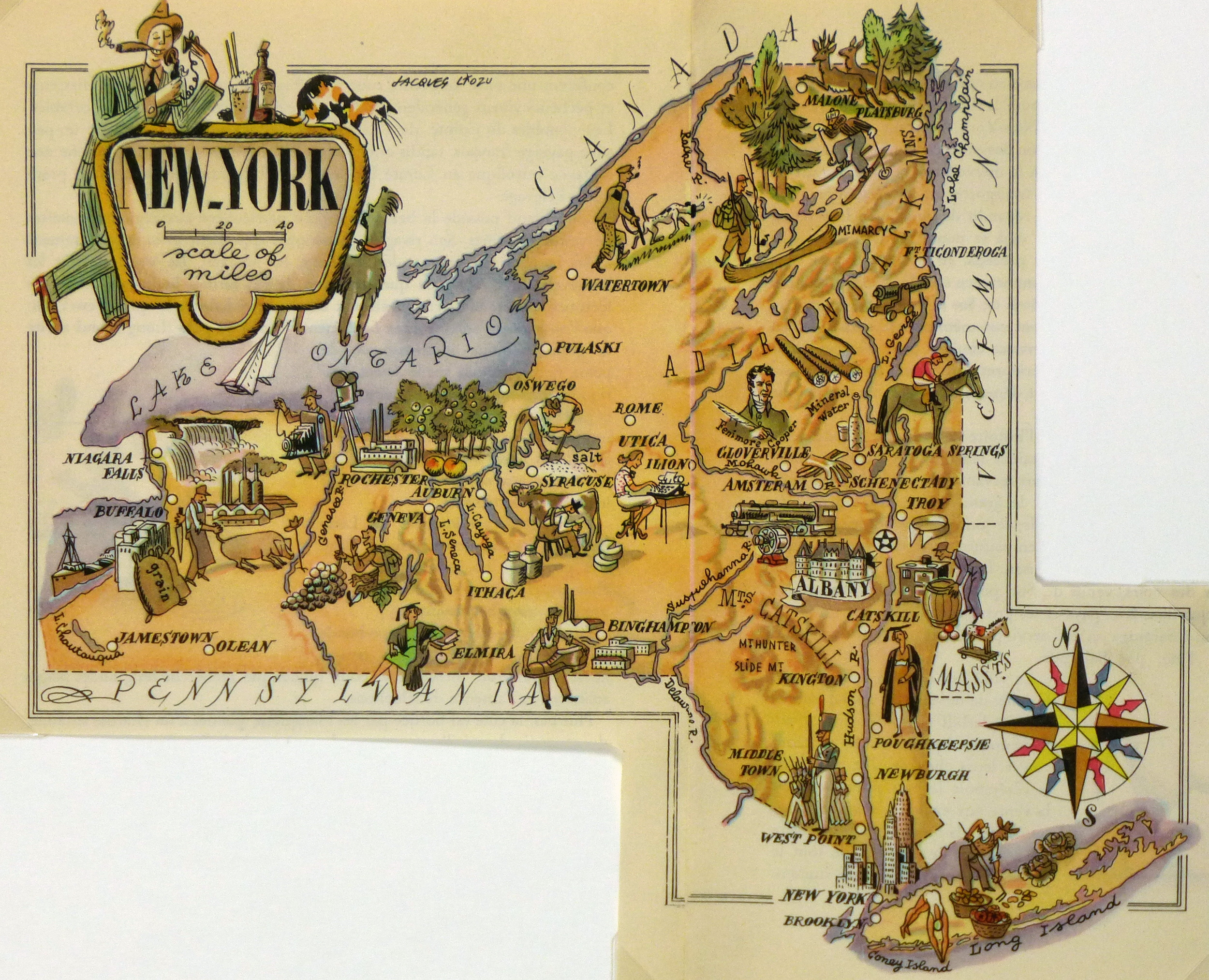 New York Pictorial Map, 1946-main-6278K