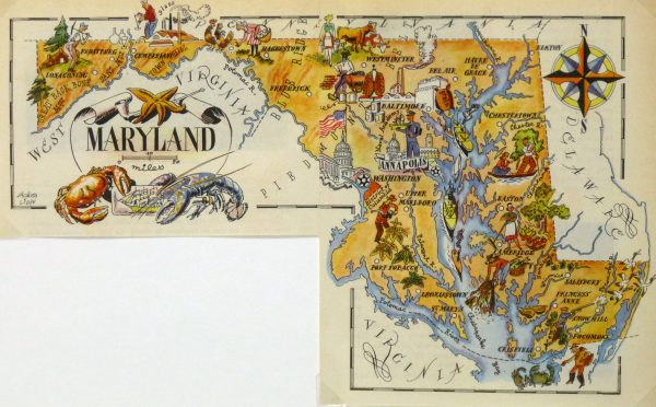 Maryland Pictorial Map, 1946-main-6279K