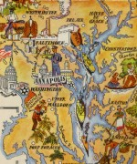 Maryland Pictorial Map, 1946-detail-6279K