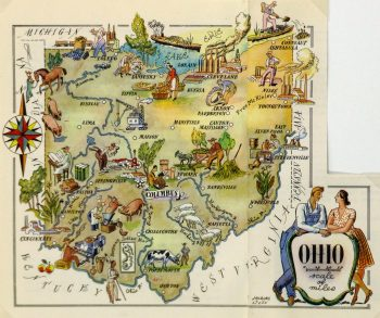 Ohio Pictorial Map, 1946-main-6280K