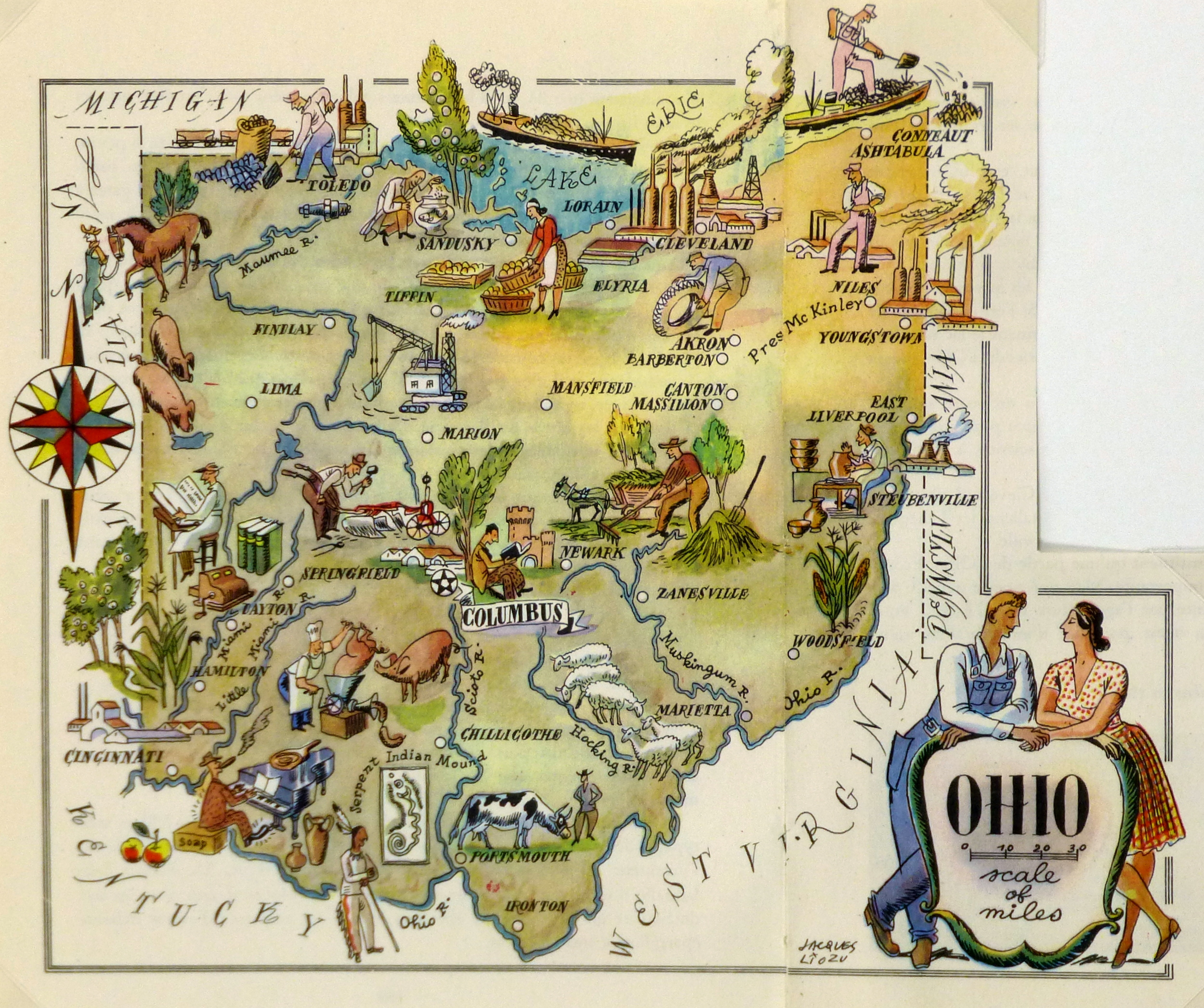 Ohio Pictorial Map - Map ohio