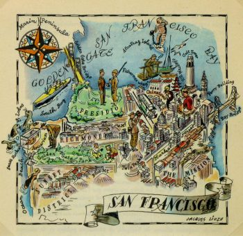 San Francisco Pictorial Map, 1946-main-6282K