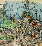 San Francisco Pictorial Map, 1946-detail-6282K